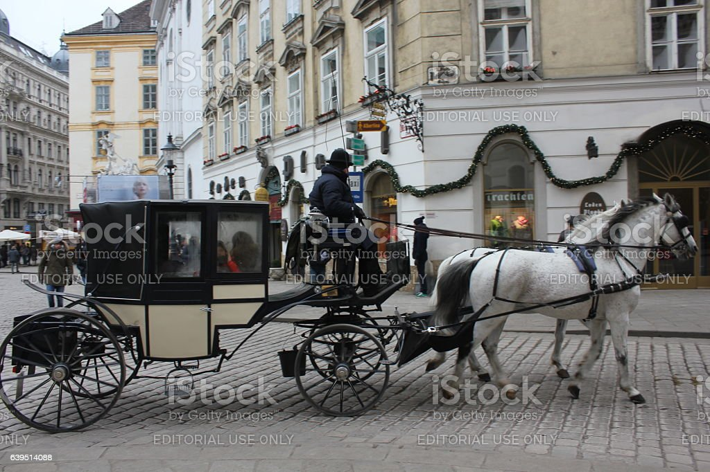 Coach with horse in Vienna stock photo
