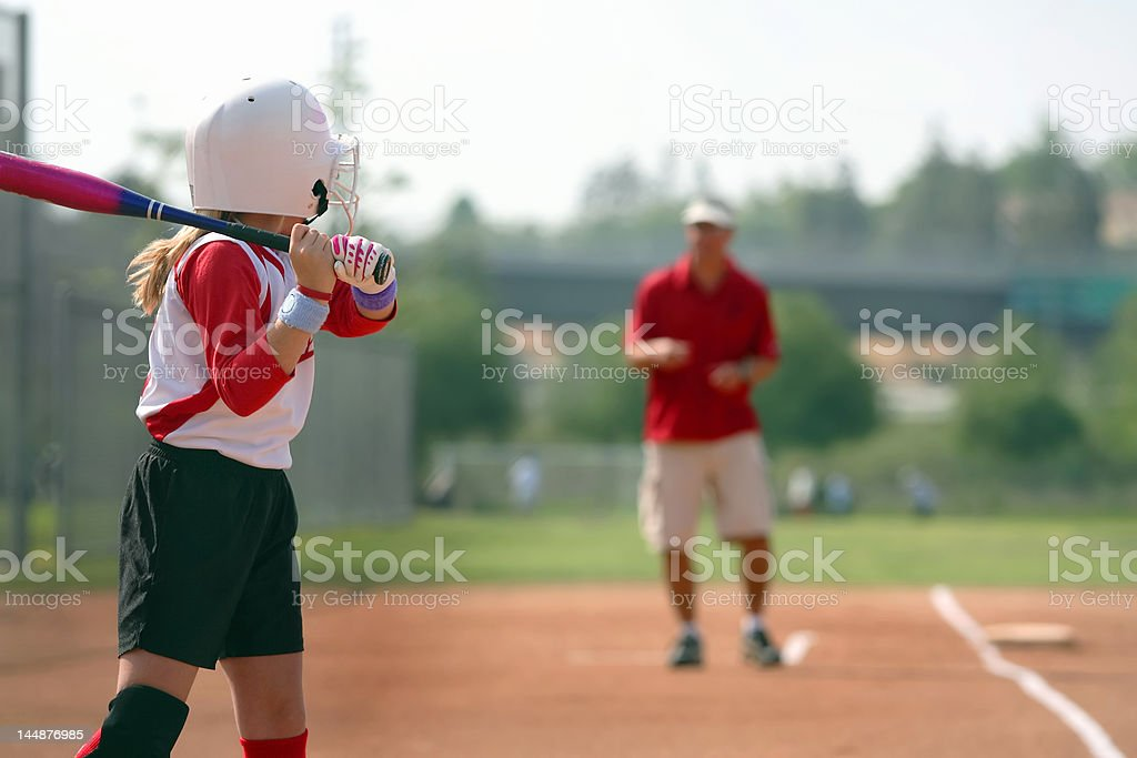 coached from third base stock photo
