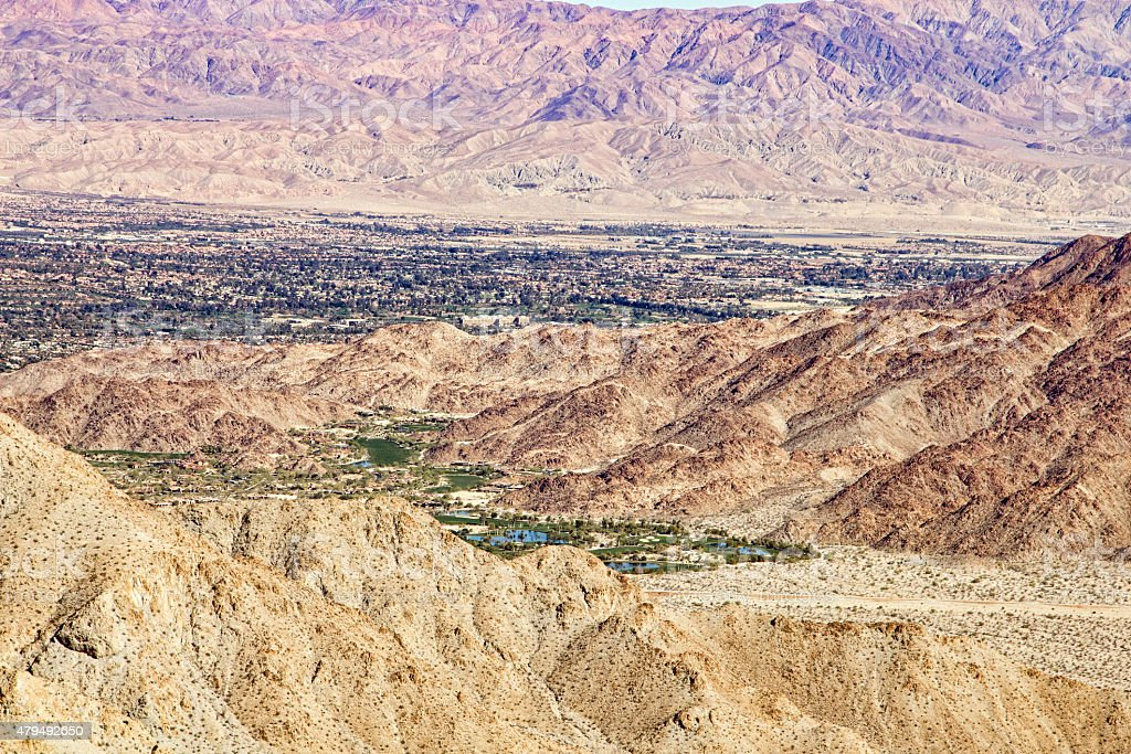 Coachella Valley Seen From the Highway 74 Lookout stock photo