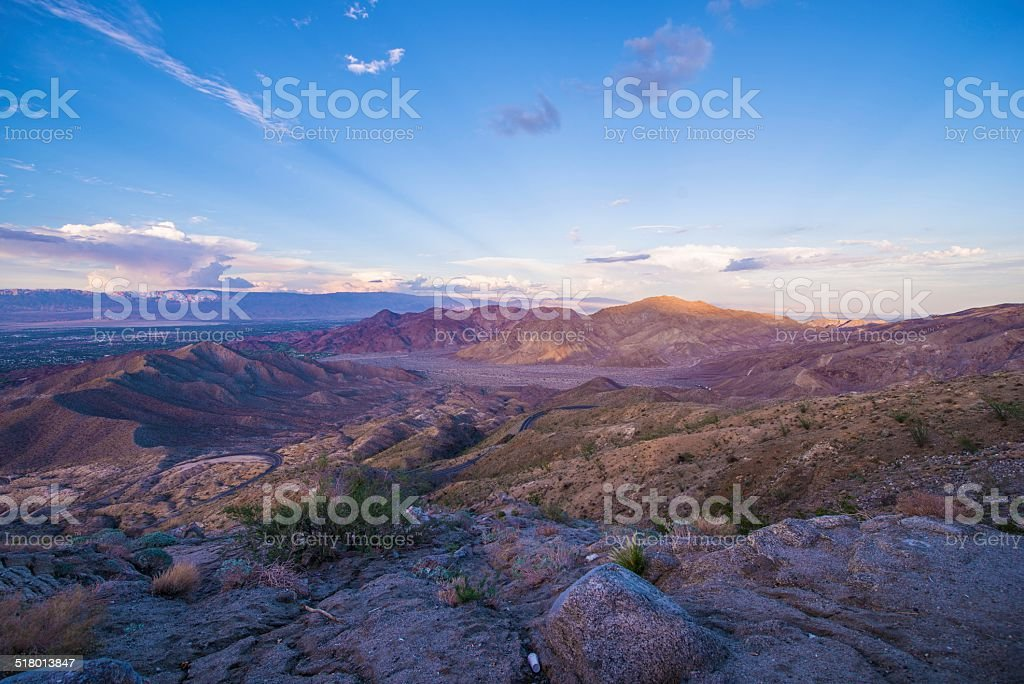 Coachella Valley Sunset stock photo