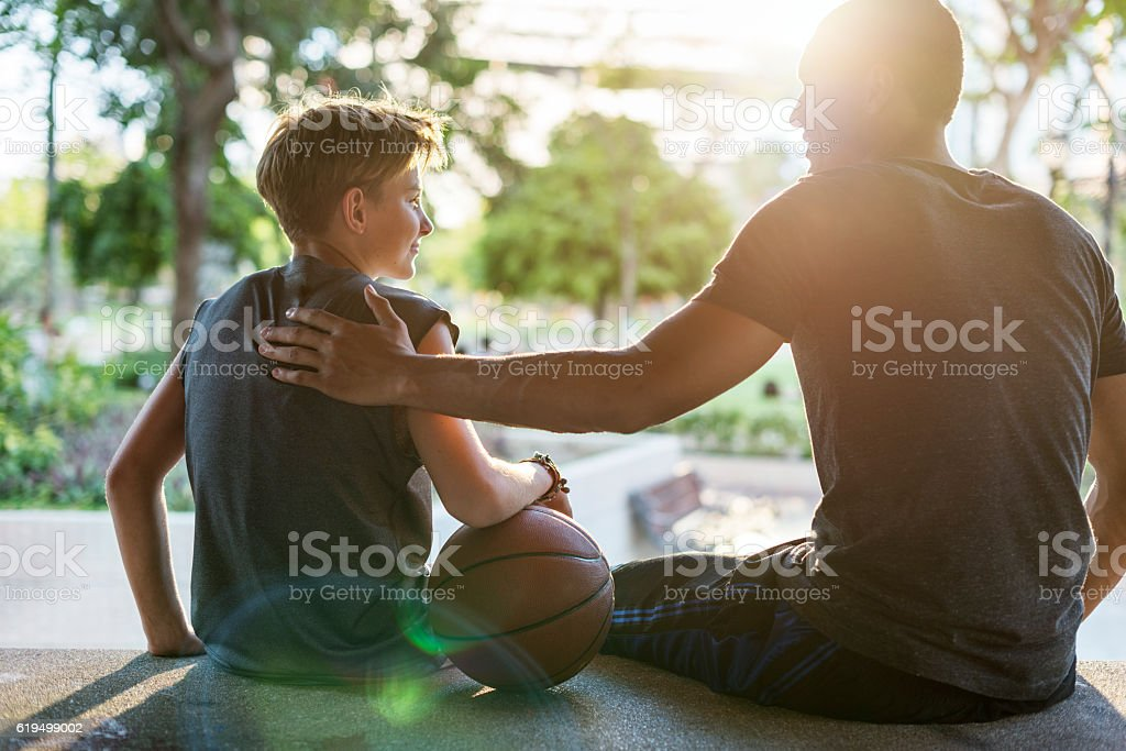 Coaching Basketball Sport Athlete Exercise Game Concept stock photo