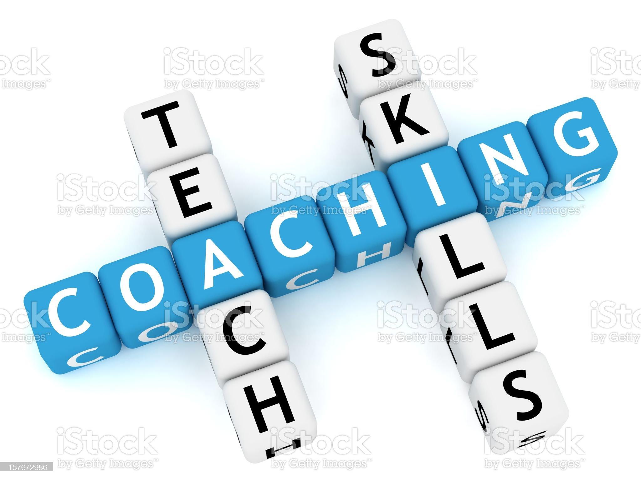 Coaching Crossword royalty-free stock photo