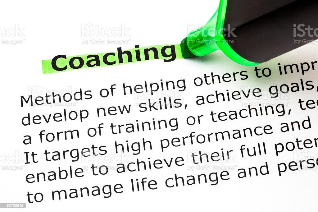 Coaching Definition stock photo