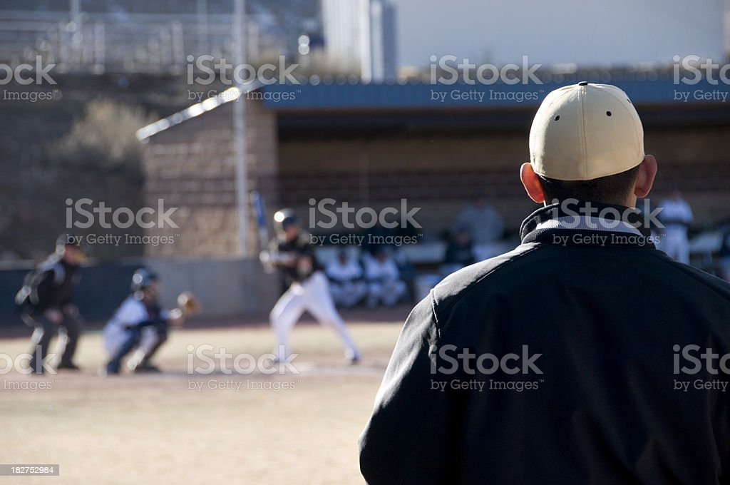 Coaching The Players royalty-free stock photo