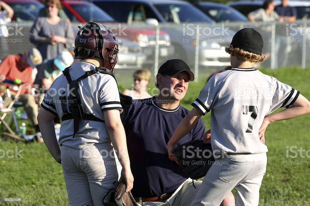 coaching youth league stock photo