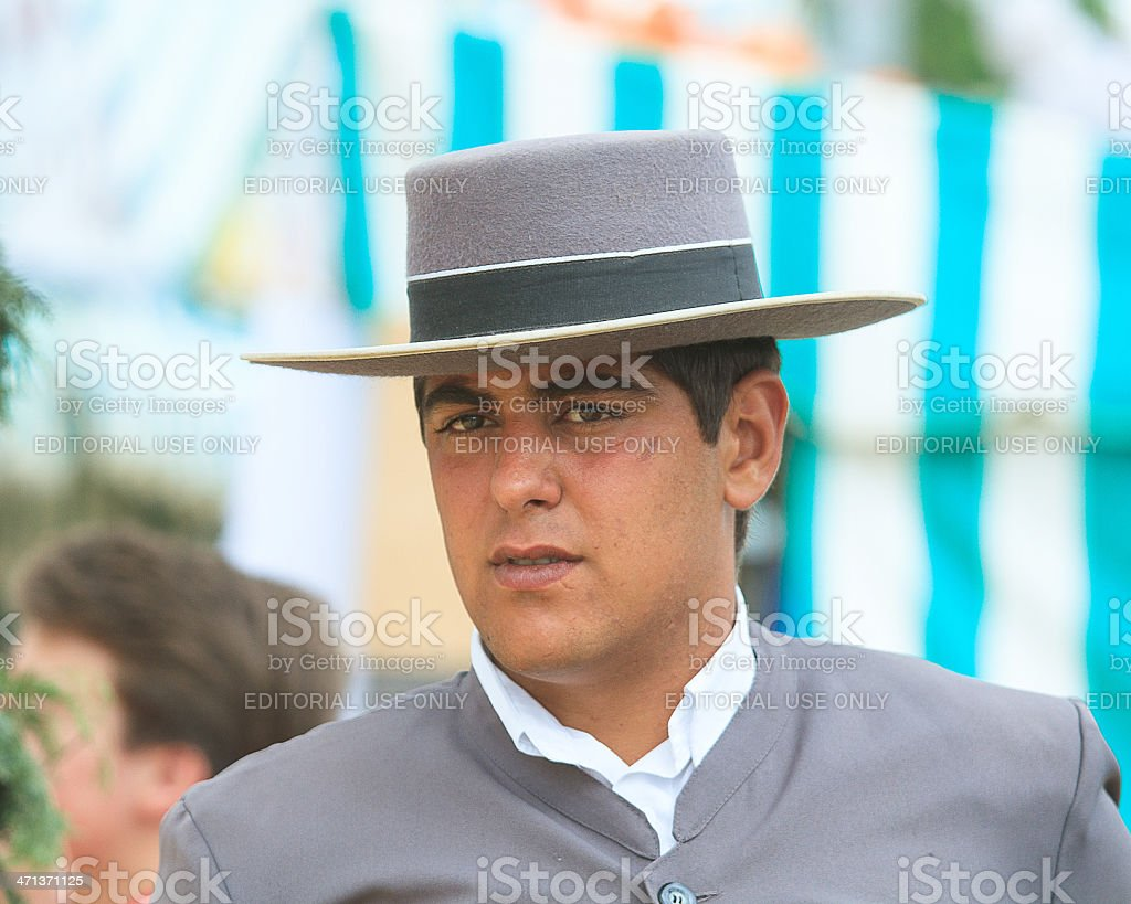 Coachman in the Seville April Fair royalty-free stock photo