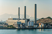 Coal and gas-fired Lamma Island Power Station in Hong Kong