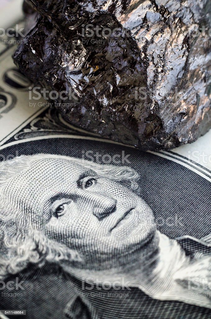 coal and US money stock photo