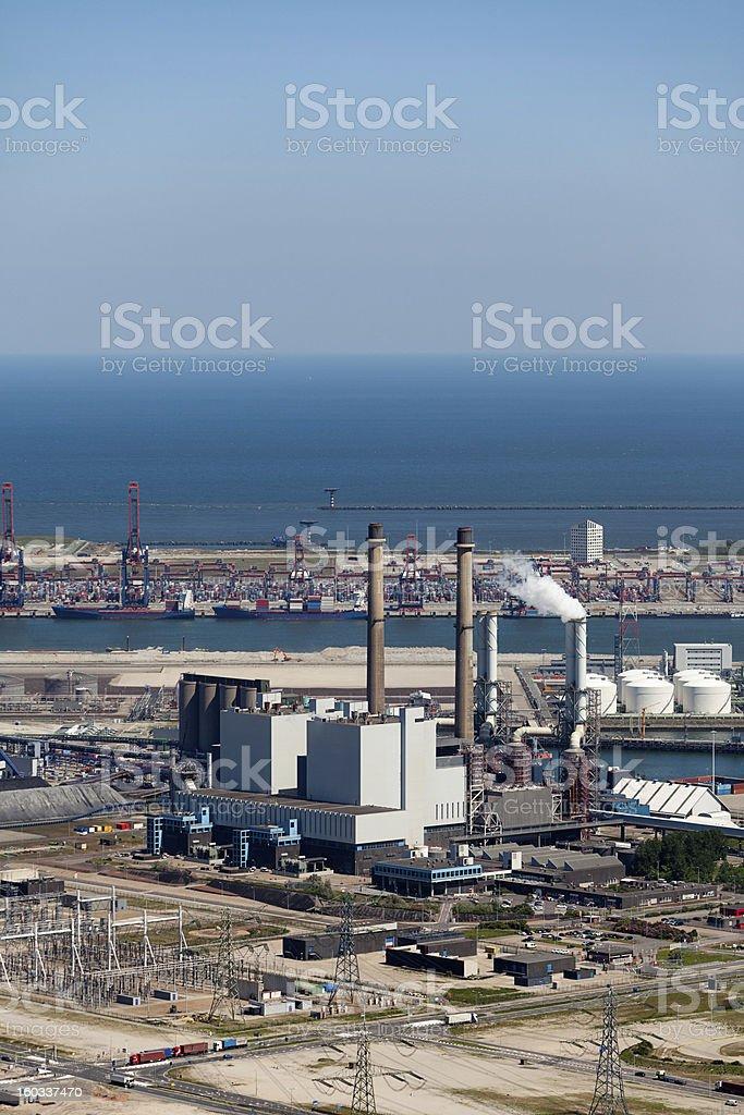 Coal burning energy plant stock photo