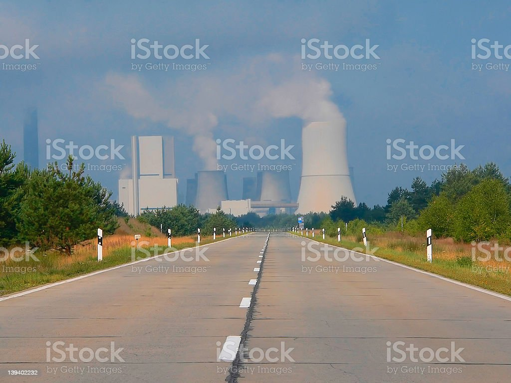 Coal Burning Power Station royalty-free stock photo