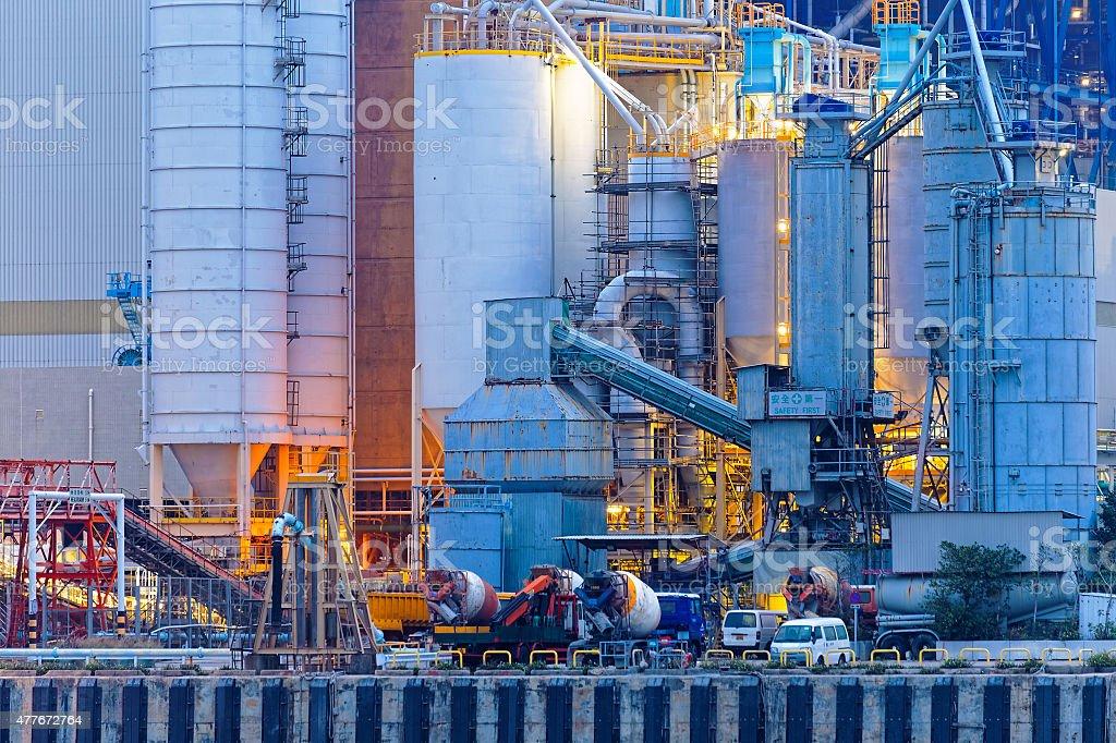Coal Burning Power Station stock photo