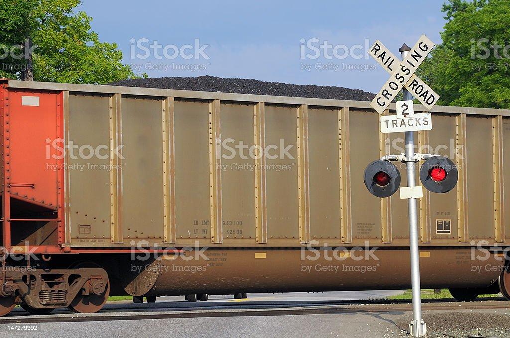 Coal car royalty-free stock photo