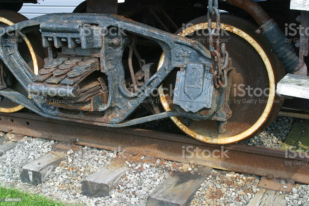 Coal Car Suspension - Canfield, Youngstown, Ohio stock photo