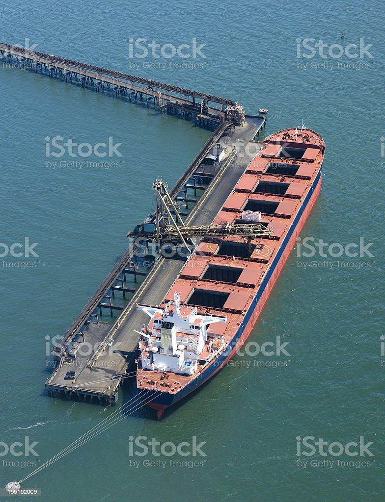 Coal Cargo Ship stock photo