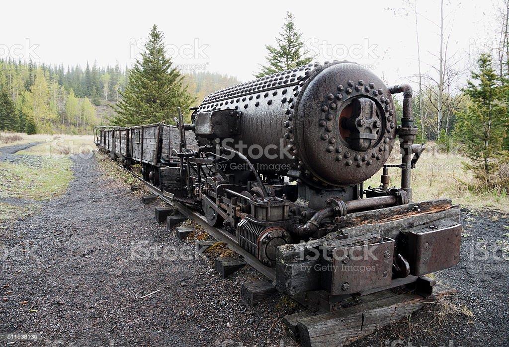Coal cart stock photo