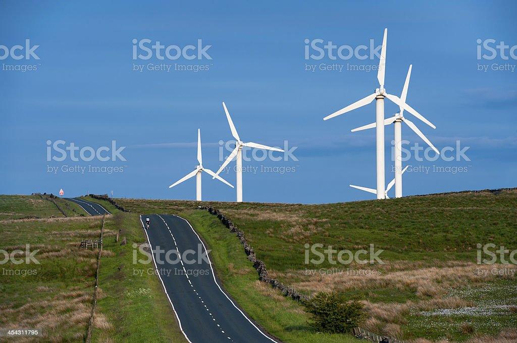 coal clough wind farm burnley stock photo