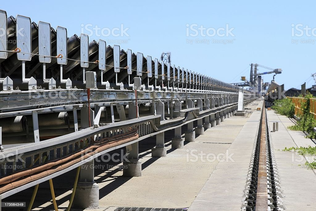 Coal Conveyer Belt royalty-free stock photo