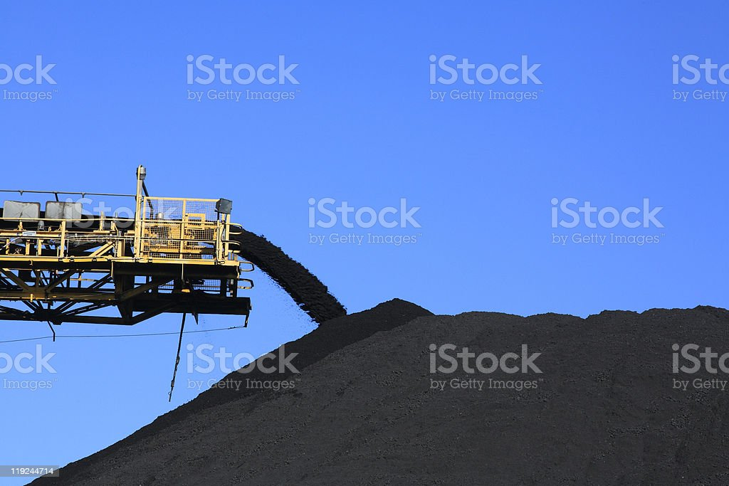 Coal Conveyor Belt royalty-free stock photo