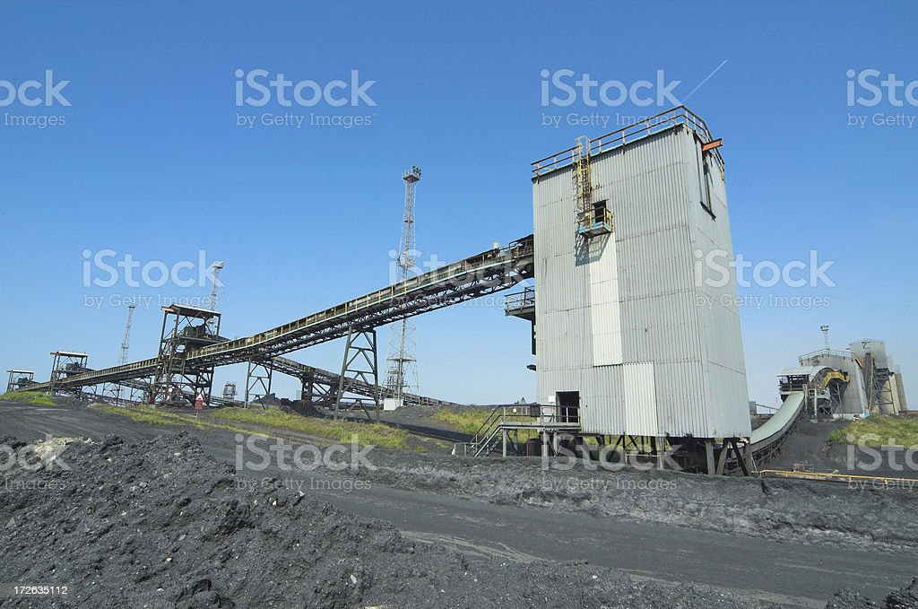 coal conveyor royalty-free stock photo