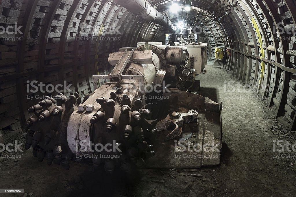 Coal extraction machinery stock photo