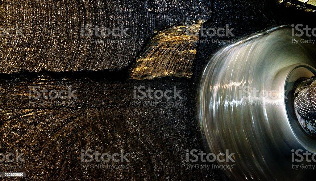 Coal extraction: mine excavator4 stock photo