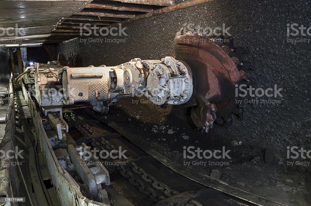 Coal extraction:mine excavator royalty-free stock photo
