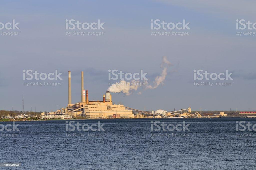 Coal Fire Generator stock photo