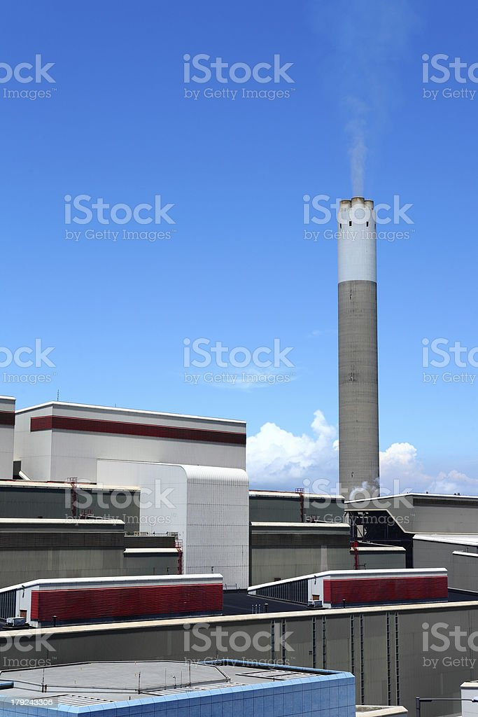 Coal fired electric power station royalty-free stock photo