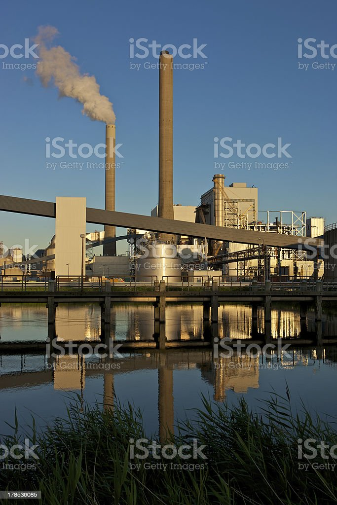 Coal fired power plant royalty-free stock photo