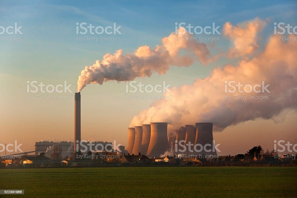 Coal Fired Power Station - England stock photo