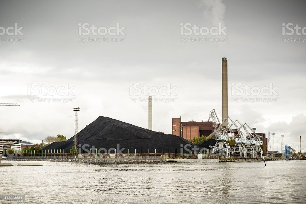 Coal Fired Power Station - Helsinki stock photo