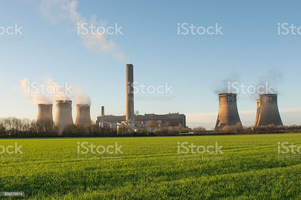 UK Coal Fired Power Station stock photo