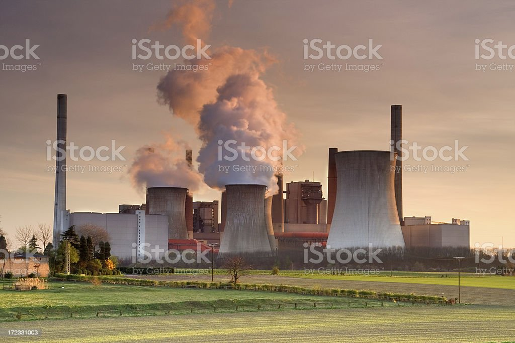 Coal fired powerstation stock photo