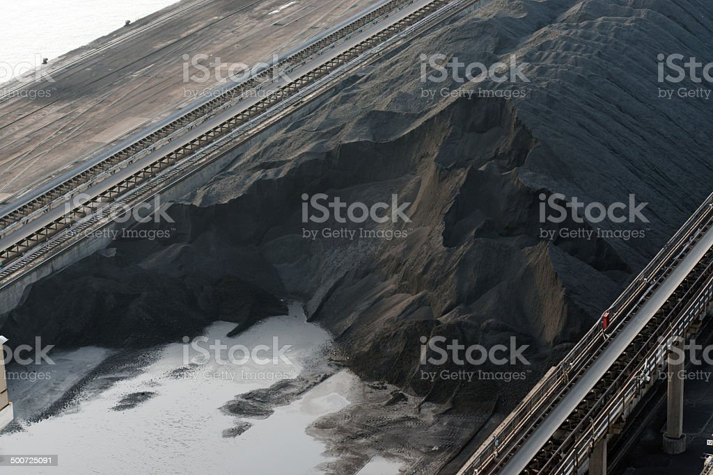 coal for electricity production royalty-free stock photo