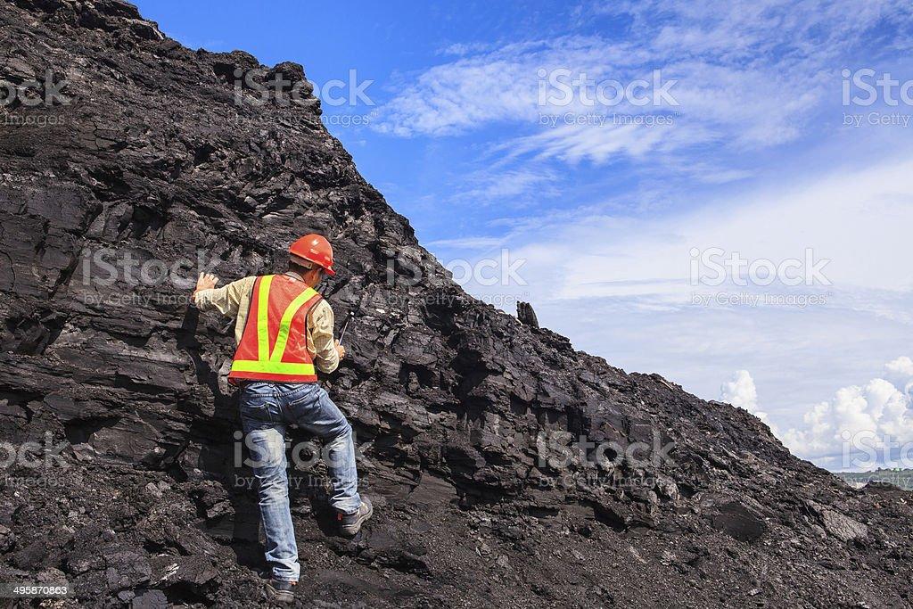 coal geologist stock photo