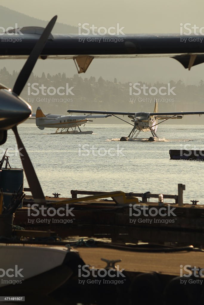 Coal Harbor Float Planes, Vancouver royalty-free stock photo