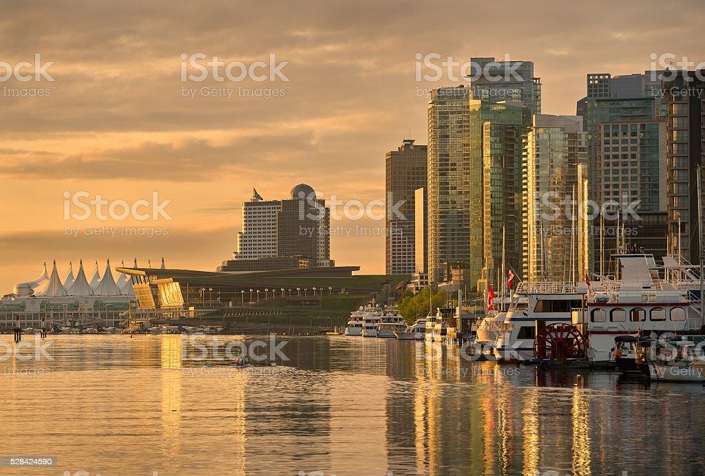 Coal Harbor Morning, Vancouver stock photo