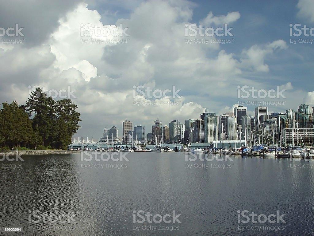 Coal harbour royalty-free stock photo
