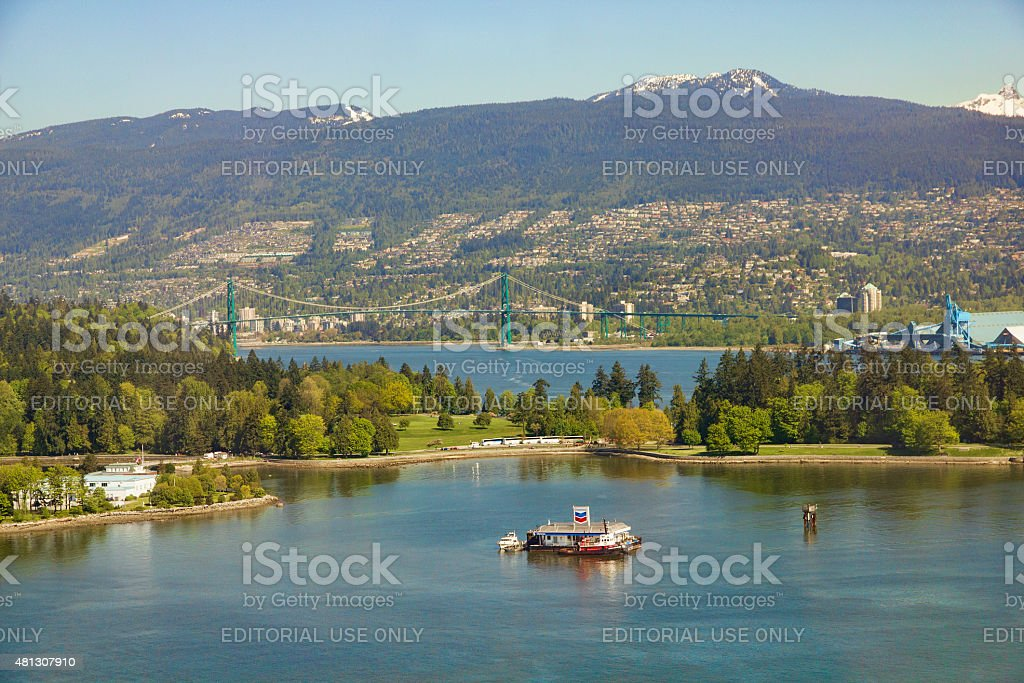 Coal Harbour Vancouver Canada stock photo