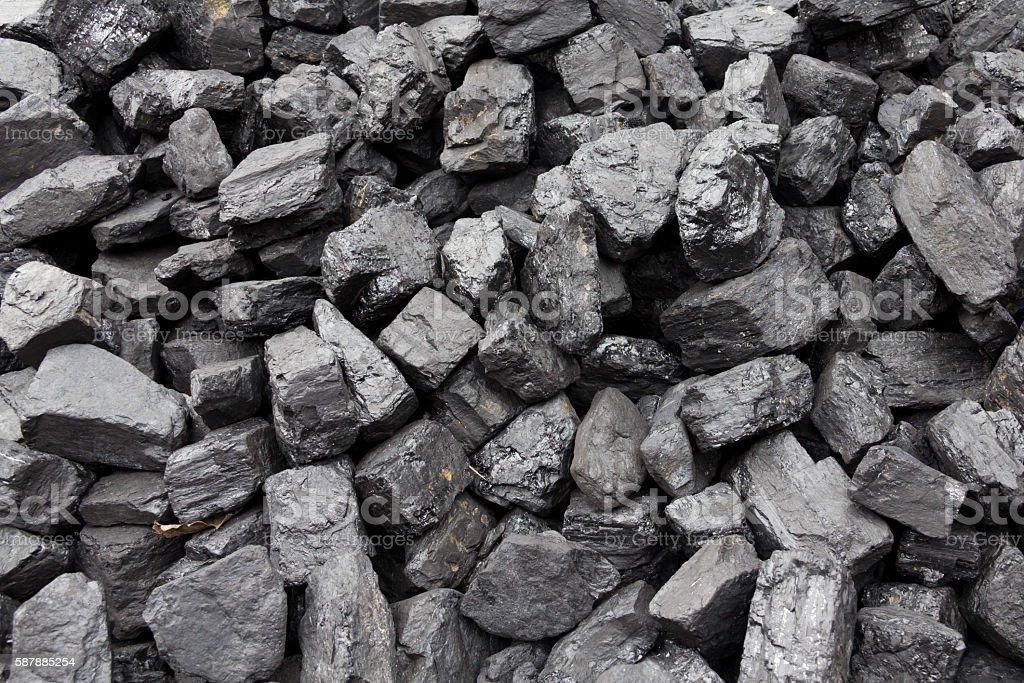 Coal heap stock photo