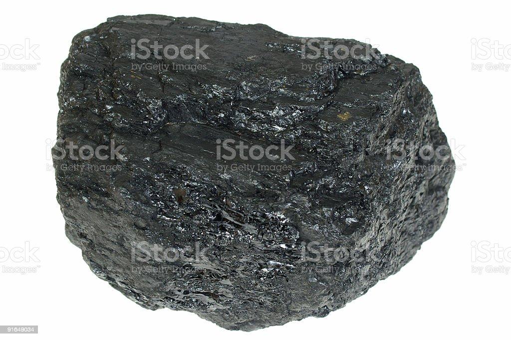 Coal isolated royalty-free stock photo