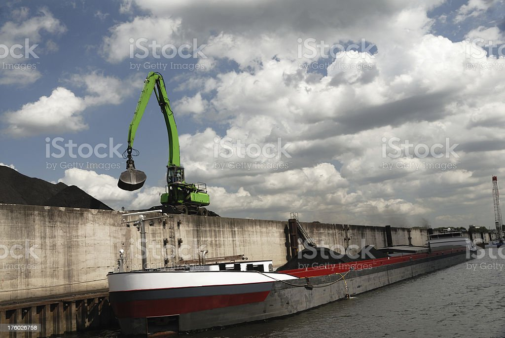 coal loading in harbour royalty-free stock photo