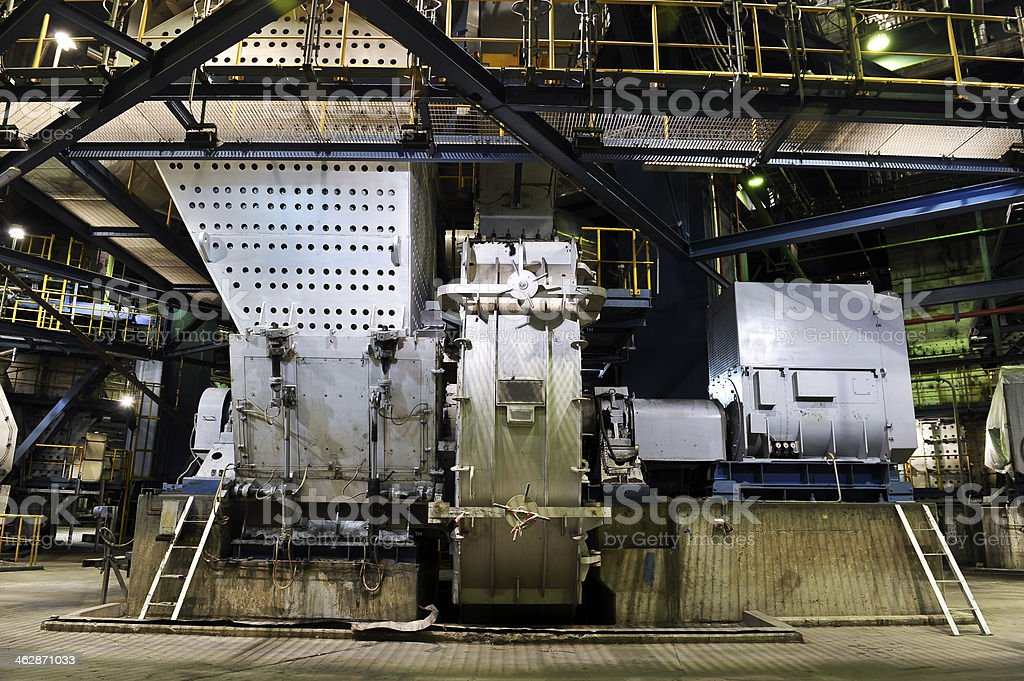 coal mill in power plant royalty-free stock photo