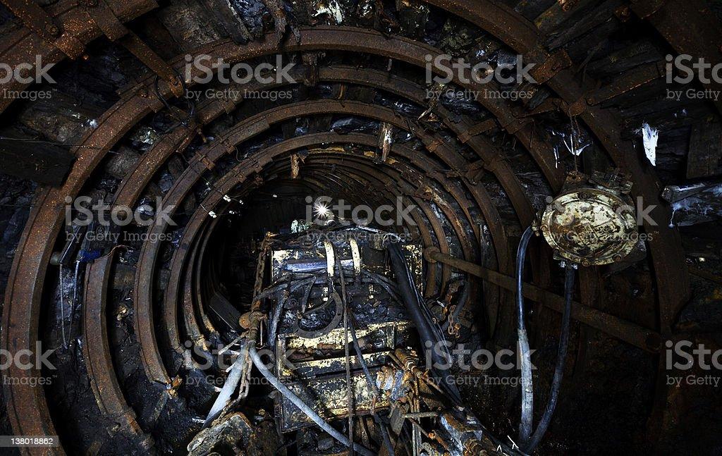 Coal mine equipment stock photo