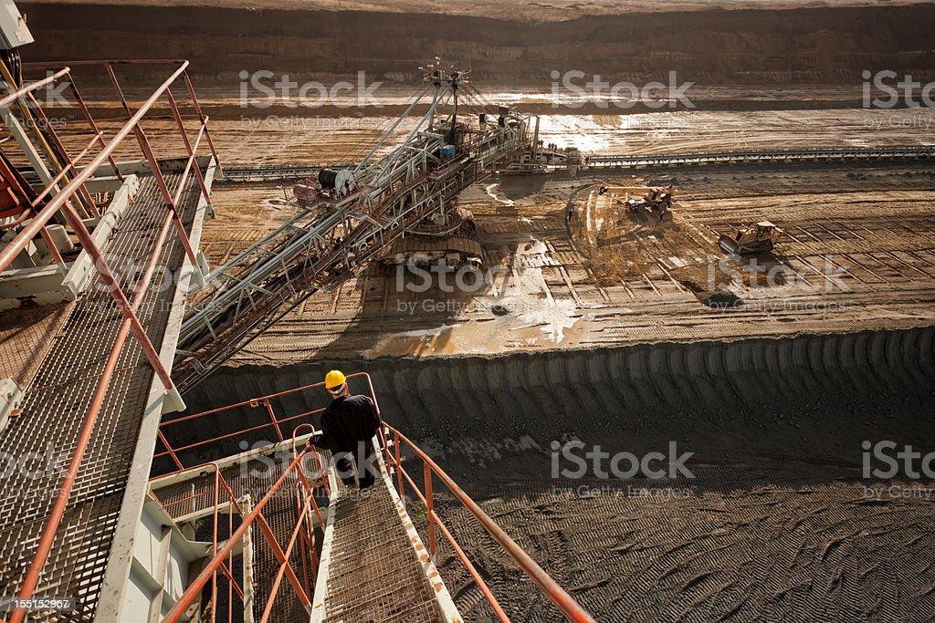 Coal mine field royalty-free stock photo