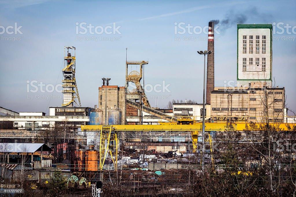 Coal Mine in Katowice, Poland stock photo