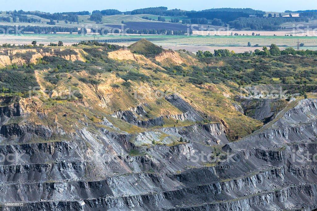 Coal Mine in Siberia stock photo