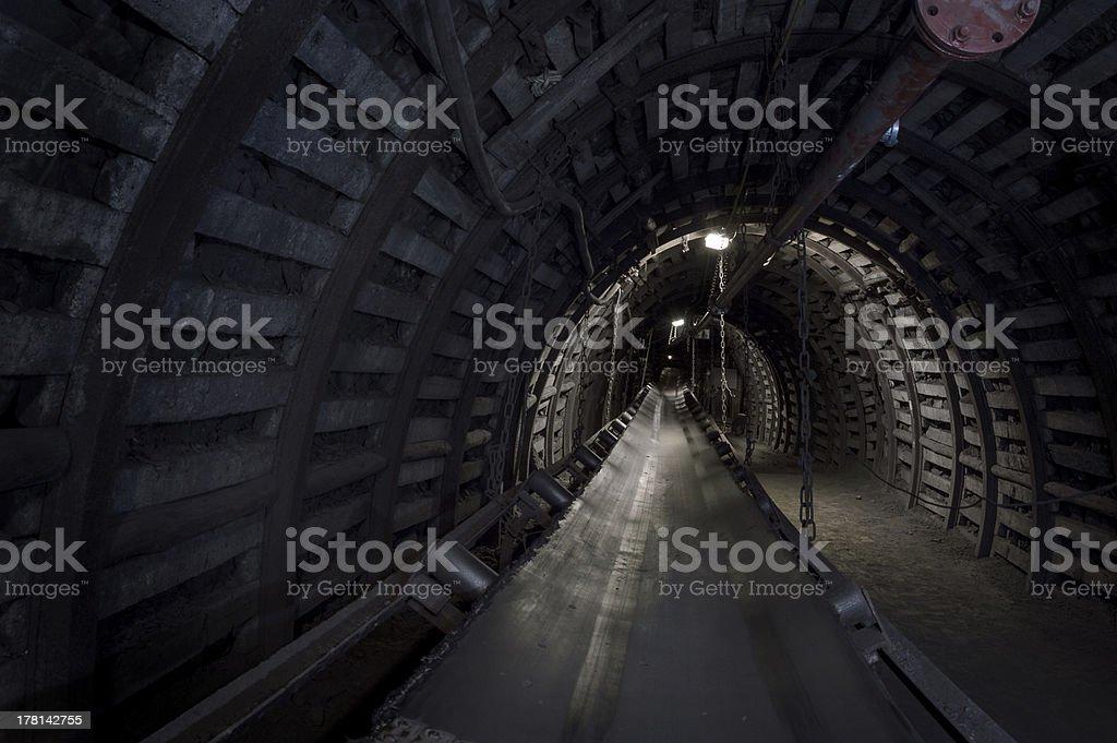 Coal mine machinery stock photo