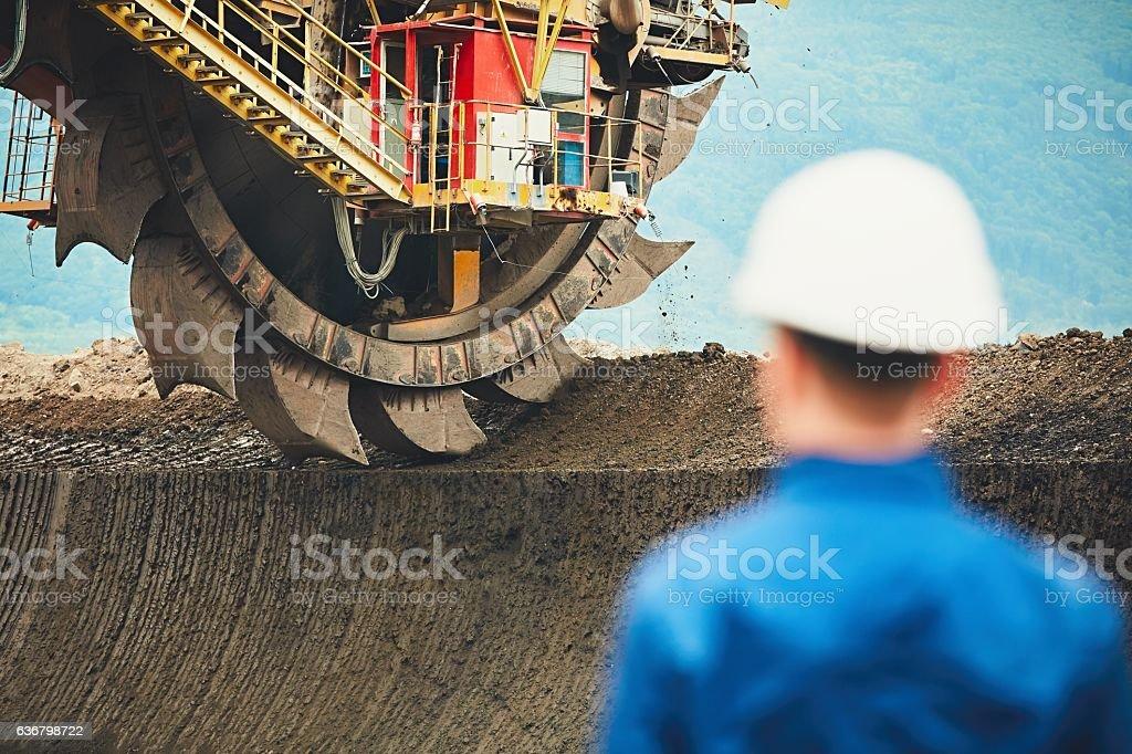 Coal mine stock photo