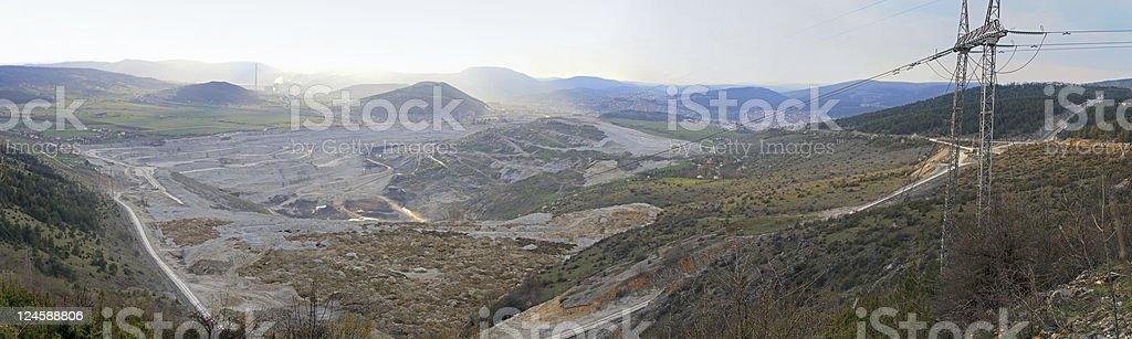 Coal mine Pljevlja stock photo